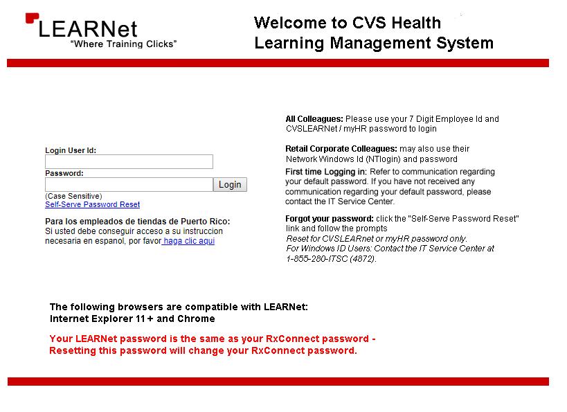 Myhr Cvs Learnet Cvslearnetcvscom Bank Amity