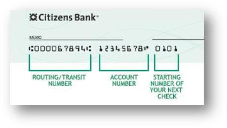 Citizens Bank of Pennsylvania Routing Number
