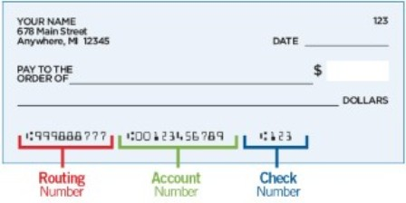 Comerica Bank Routing Number on Check