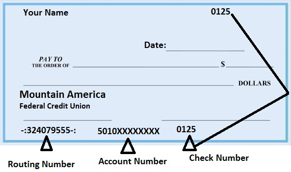 Mountain America Routing Number